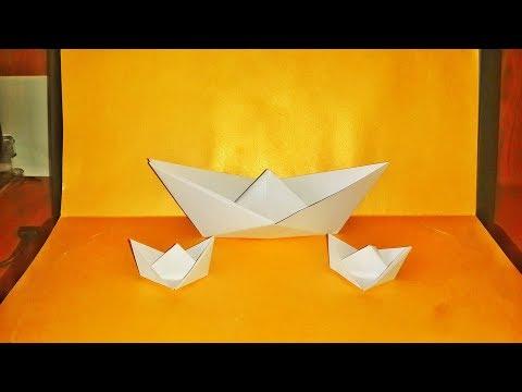PAPER SHIP CONSTRUCTION VIDEO , KAĞITTAN GEMİ YAPIM VİDEOSU , DIY , How to make origami , Origami