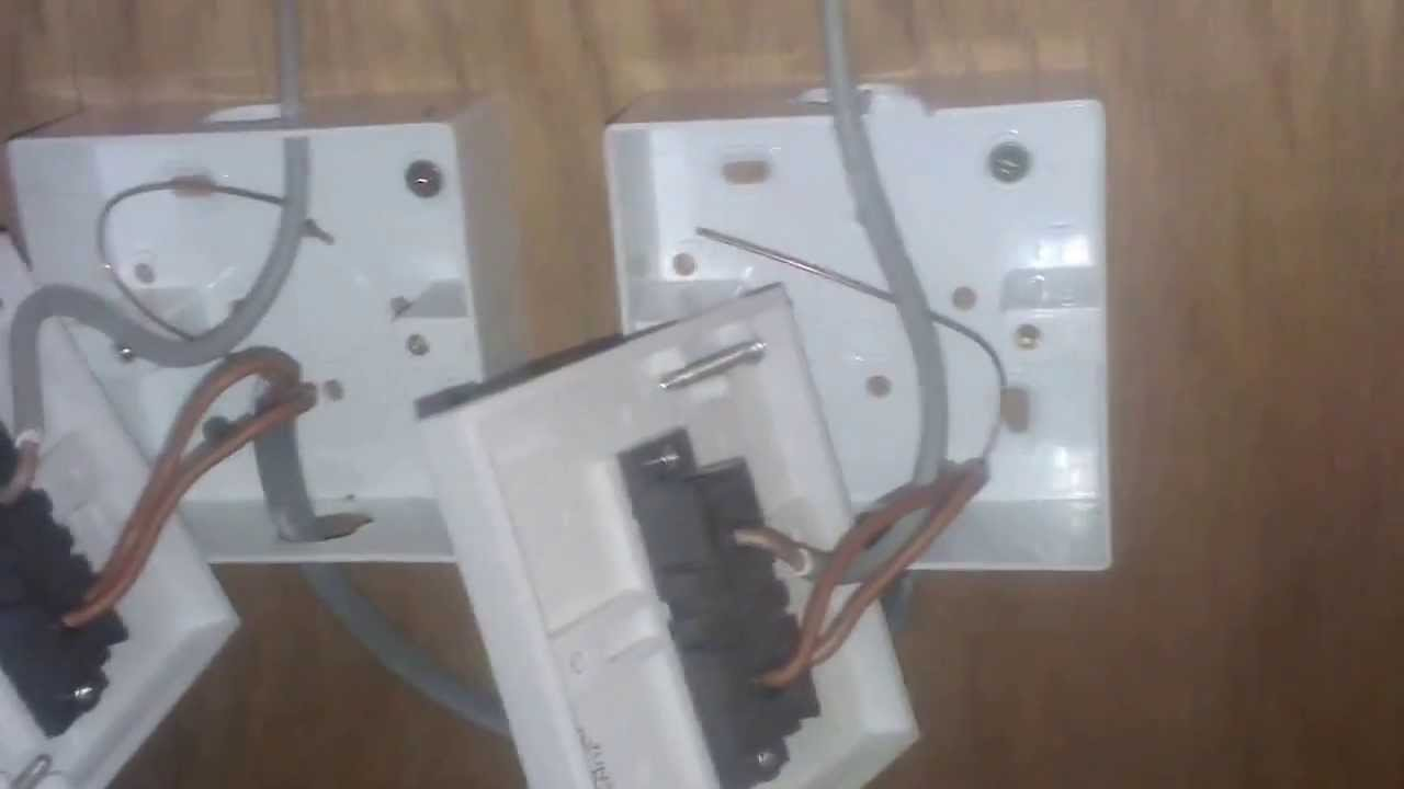 How to Wire A 2 Way Light Switch - Part 1 - YouTube