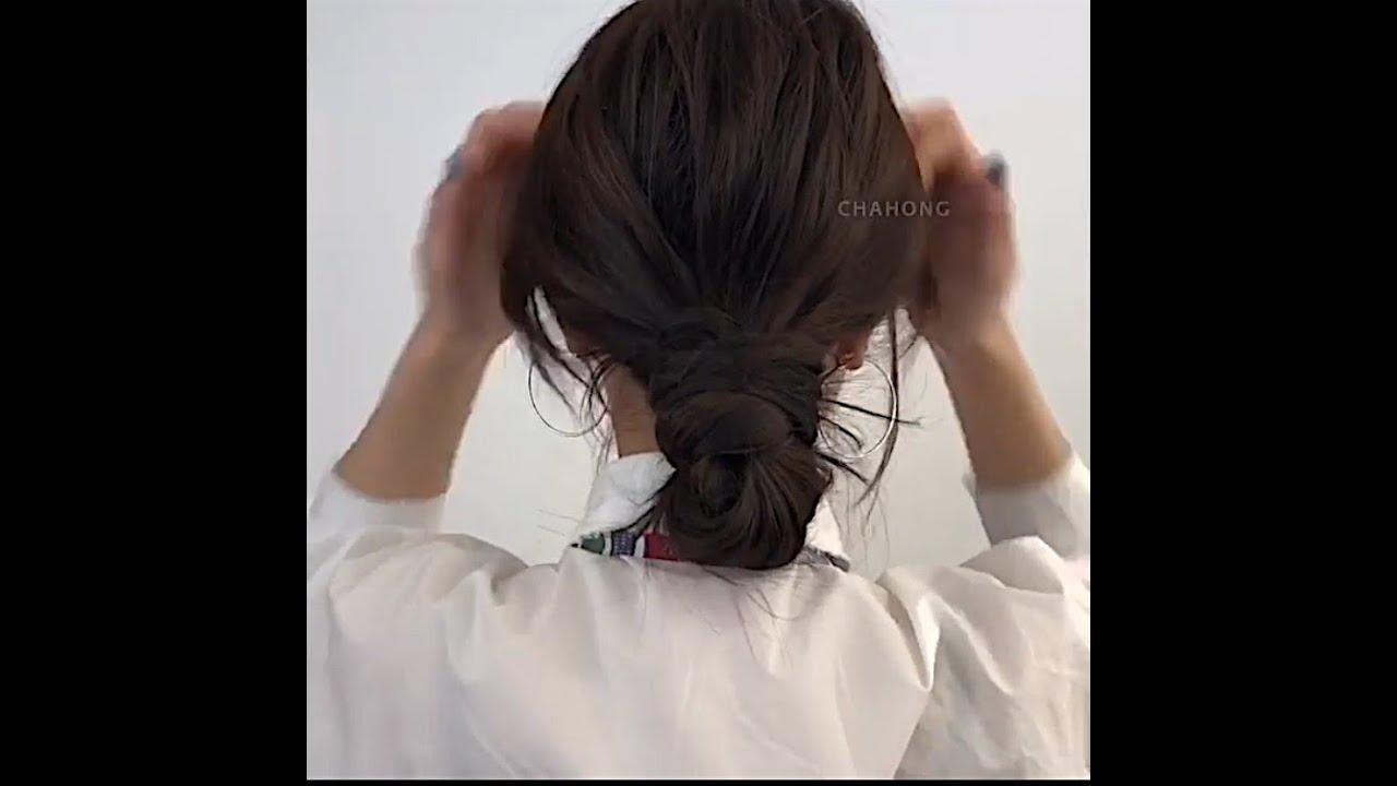 HƯỚNG DẪN BÚI TÓC THẤP HÀN QUỐC ĐƠN GIẢN – [K_Chanel]   Kênh làm đẹp Style Hàn Quốc   Tổng hợp kiến thức về tóc đẹp mới nhất