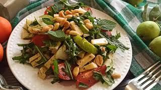 Салат с грушей руколой сыром и орехами Рецепт ресторанной кухни у вас дома