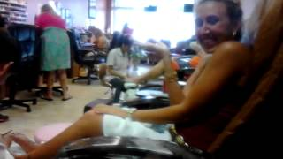 Pedicure with a hot babe
