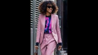 Power Blazer Power Suit Blush Coloured Pantsuit For Women