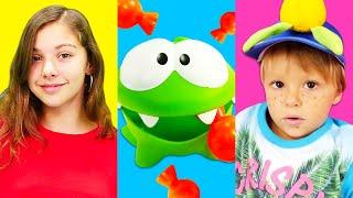Om Nom - eğitici video. İngilizce çocuk şarkıları