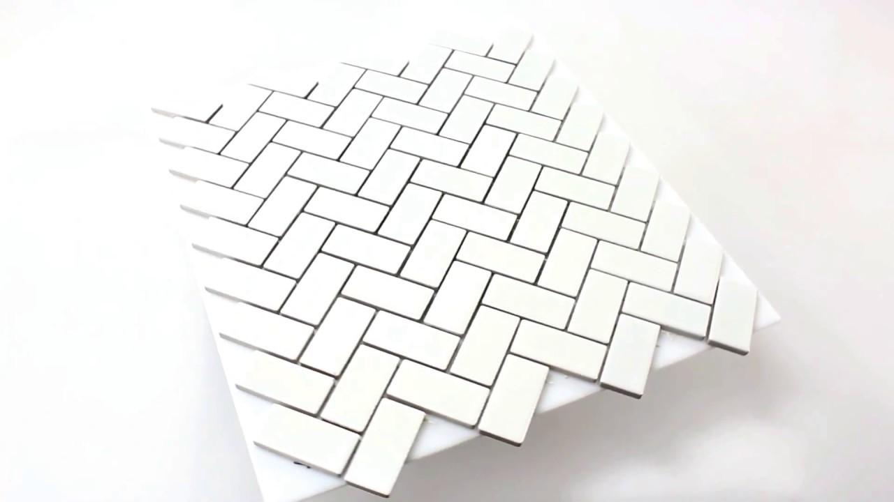 wandbordüre fliesenpiegel aus keramik casillas weiss matt - youtube