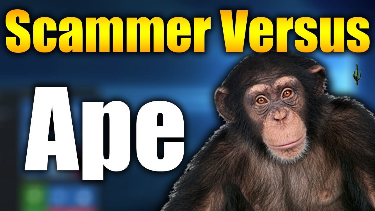 Tech Support Scammer Versus Ape - SCAMMER HATES MONKEY   Tech Support Scammers EXPOSED!
