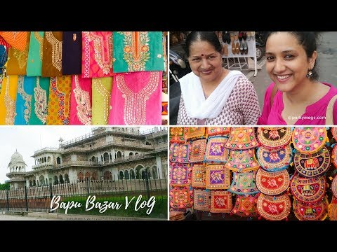 Bapu Bazar Jaipur Vlog | Navratri Festive Shopping with Mom | Perkymegs