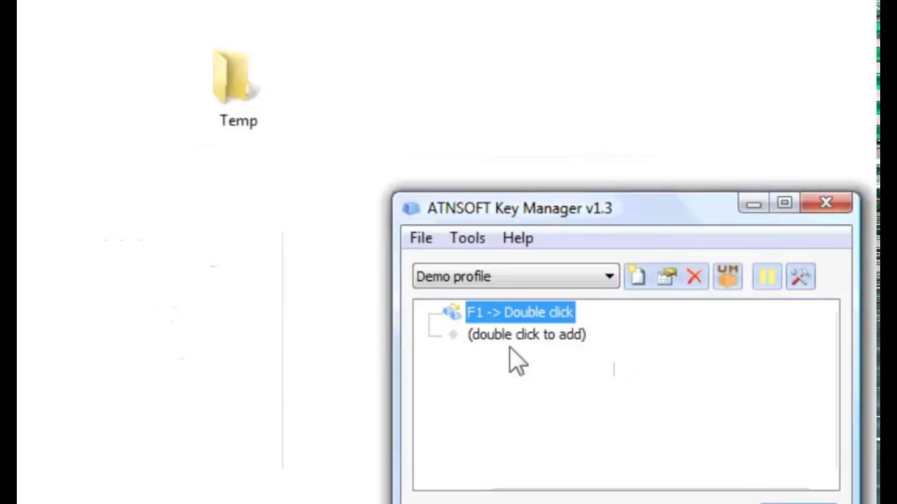 ATNSOFT Key Manager – Key, mouse button and key combination