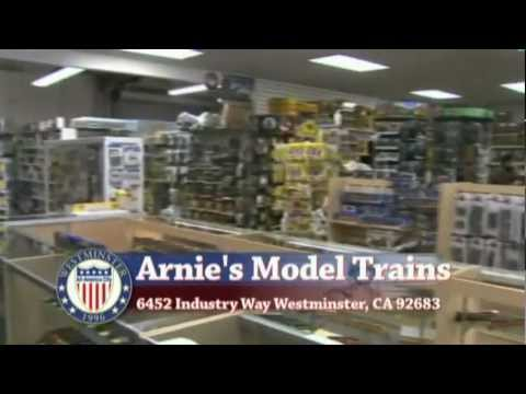 Arnies Model Trains on TV, Orange County CA