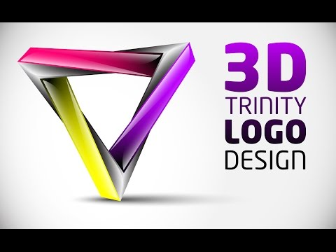 How To Create FULL 3D Logo Design In Adobe Illustrator CS5 HD1080p (TRI)