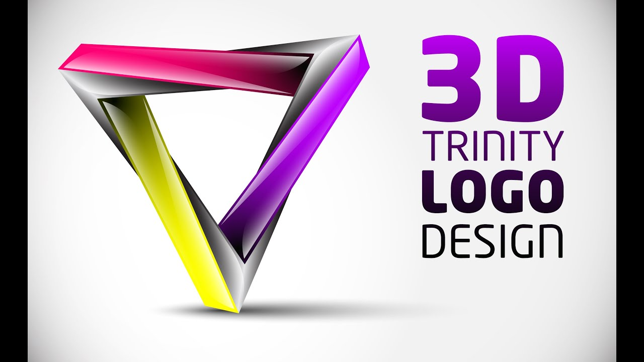 How to create 3D Logo Design in Adobe Illustrator CS5 | HD | TRI ...