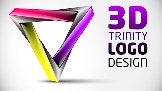 How to create 3D Logo Design in Adobe Illustrator CS5 | HD | TRI