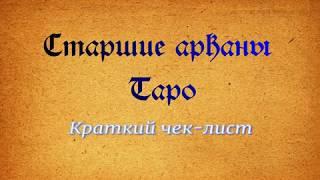 Чек-лист Старшие арканы ТАРО