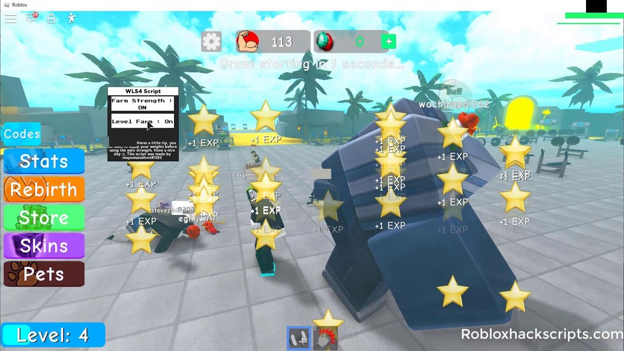 Roblox Weight Lifting Simulator 5 Script Roblox Hack Scripts Roblox Weight Lifting Simulator 4 Auto Farm Script Hack Youtube