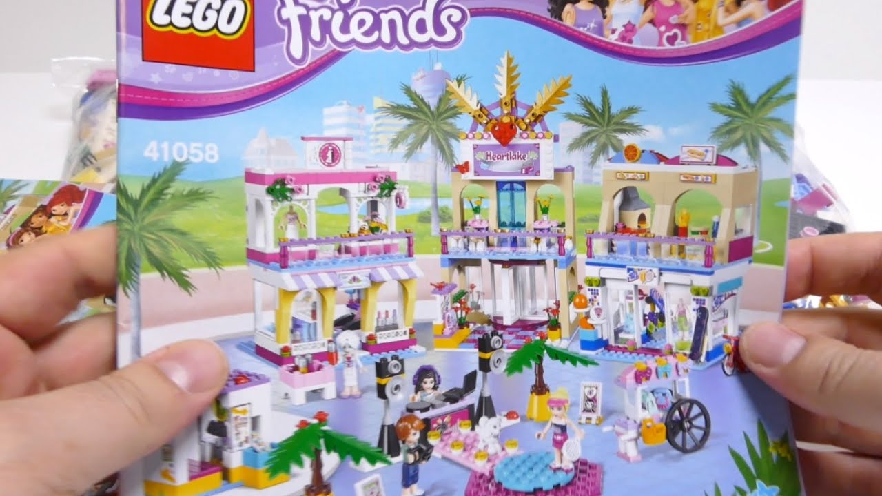 Lego Friends 41058 Heartlake Shopping Mall 2015 Set Youtube