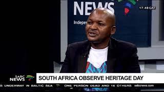 Edward Mitole on Heritage day Celebrations