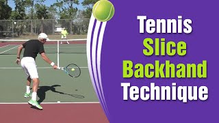 Tennis Slice Forehand Technique