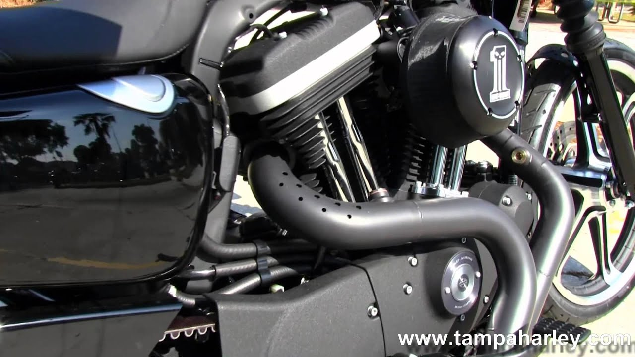 New 2013 Harley-Davidson Iron 883 Custom with Roland Sands Performance  Exhaust