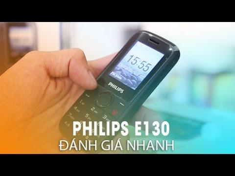 PHILIPS E130: Điện thoại phổ thông giá rẻ nhưng chất!