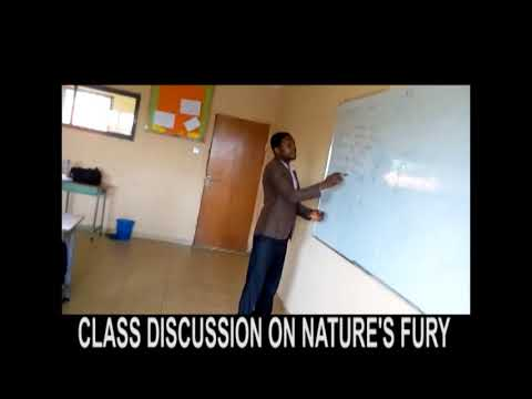 Class discussion on nature's fury