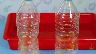 ¿Quién aplasta la  botella? Experimentos  (Divertiaula)