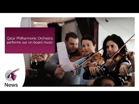 Qatar Philharmonic Orchestra performs our on-board music composed by Dana Al Fardan - Qatar Airways