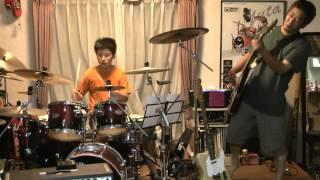 11月のライブに向けて練習です。 ギター→おやじ ドラム→どらむすこ(中1)