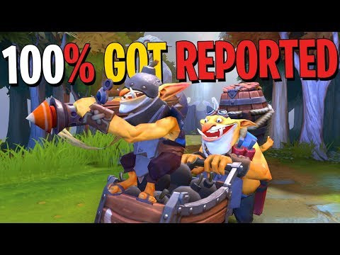 100% Got Reported - Techies DotA 2