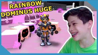 GIVING MY LITTLE NEPHEW THE RAINBOW DOMINUS HUGE IN ROBLOX PET SIMULATOR *25 MILLION POWER!!*