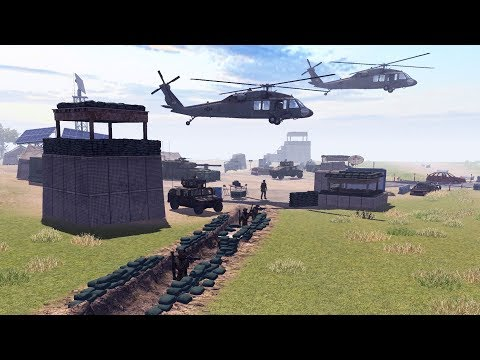 US HELICOPTER CRASH DEFENSE, MARINE BASE DEFENSE LINE | Call to Arms Gameplay