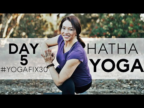 Hatha Yoga Workout For Core (Day 5) With Fightmaster Yoga Fix 30
