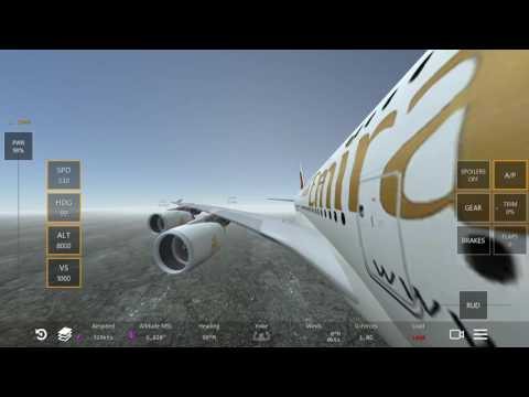 Emirates A380 Takeoff and Landing Perfecht