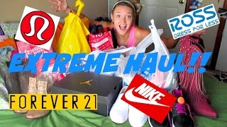 EXTREME CLOTHING HAUL: Forever 21, Ross, Lululemon & MORE