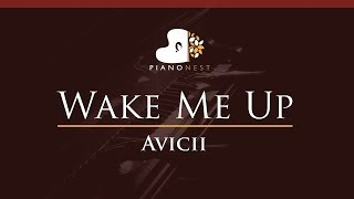Avicii - Wake Me Up - HIGHER Key (Piano Karaoke / Sing Along)