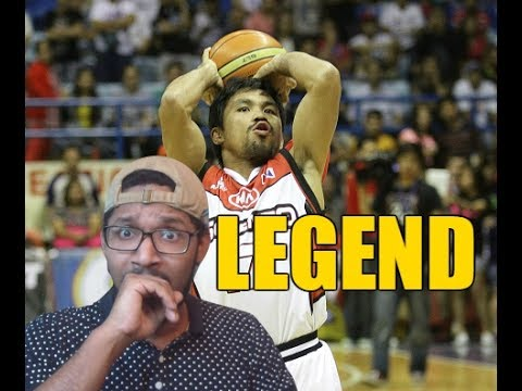 DID HE JUST TRY TO DUNK?! MANNY PACQUIAO BASKETBALL HIGHLIGHTS REACTION!