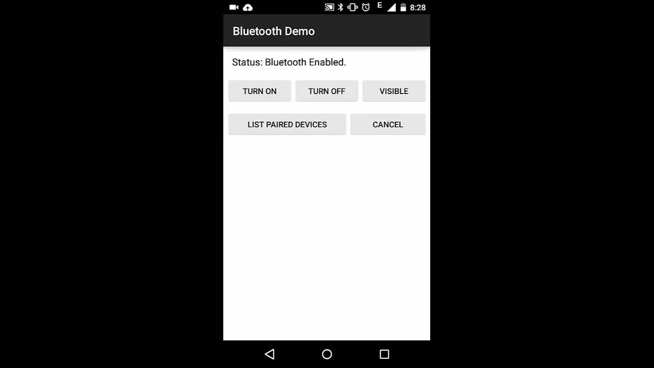 Android Bluetooth Demo