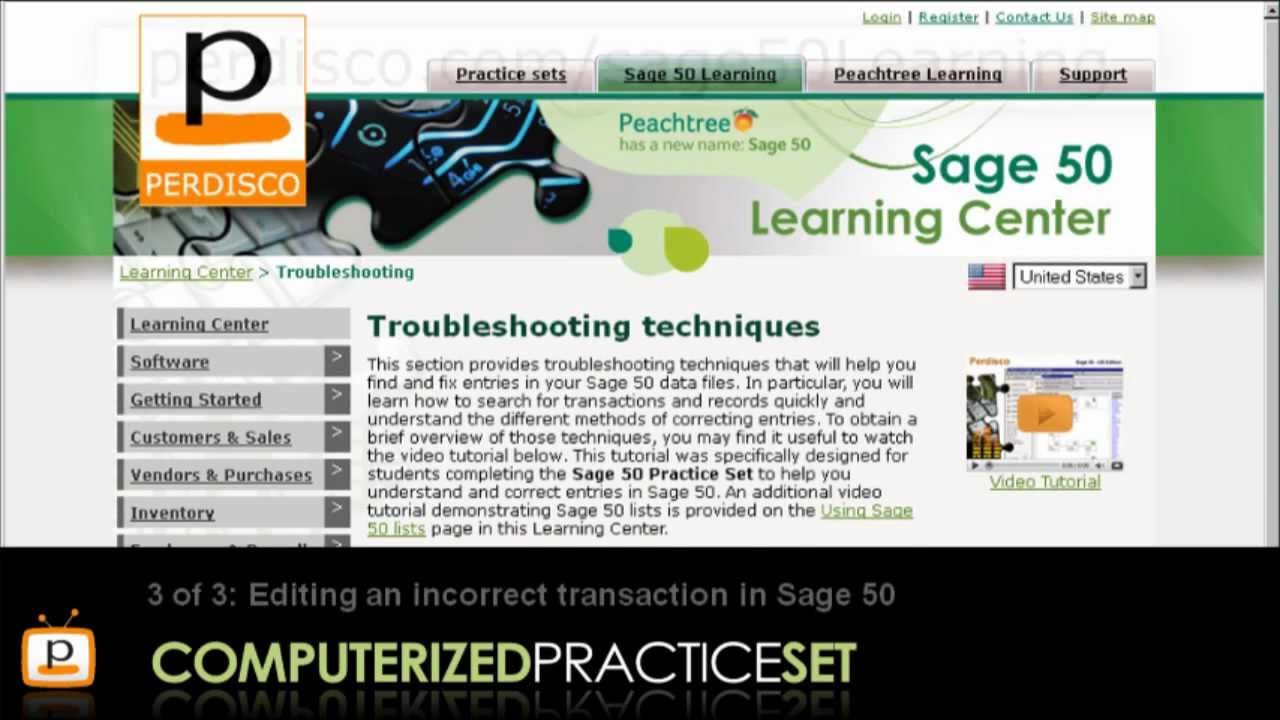 Peachtree tutorial cds in english youtube.