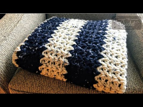 Crochet Chunky Tweeds Blanket Pattern