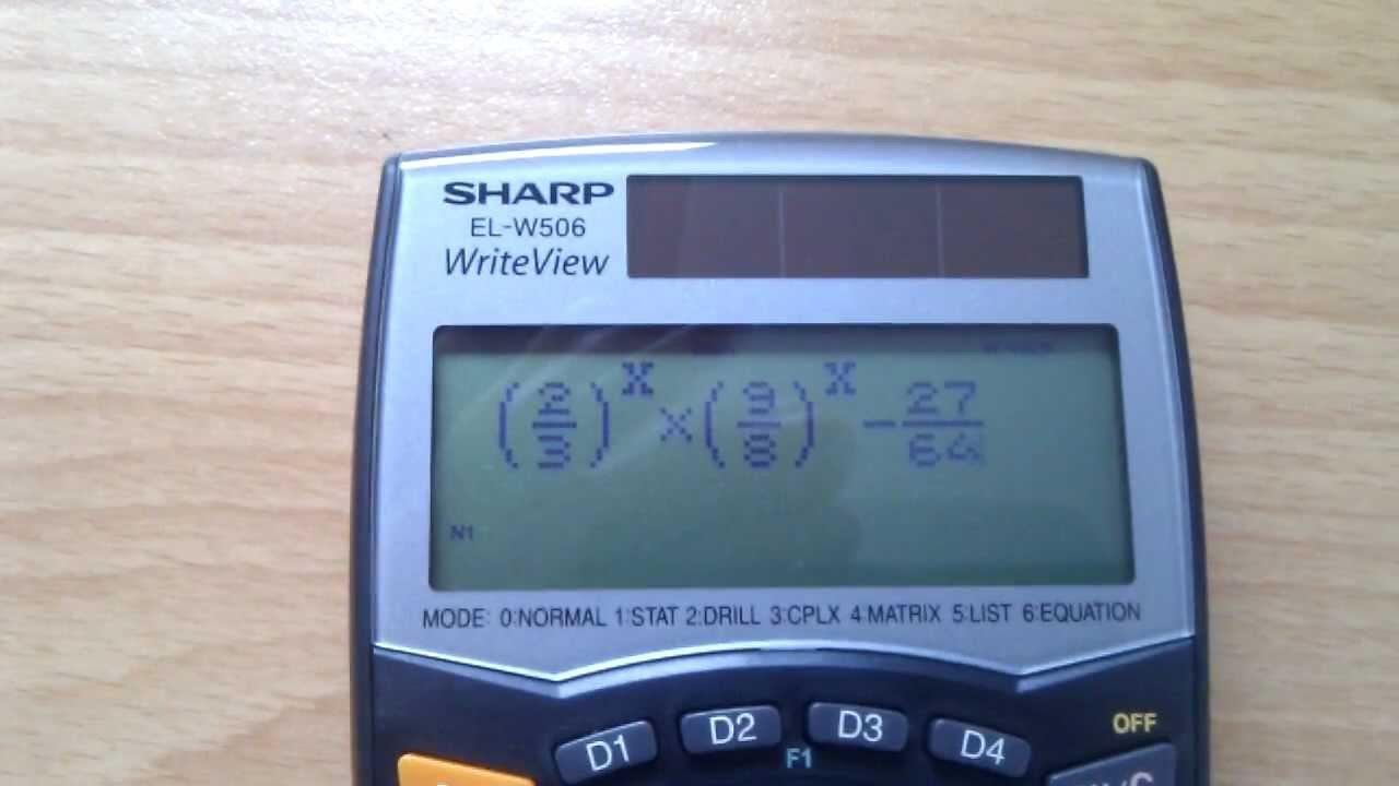 sharp calculator el w506 equation solver newton s method youtube rh youtube com Sharp EL Printing Calculator 1630 Parts for Sharp Calculator EL 1197 III