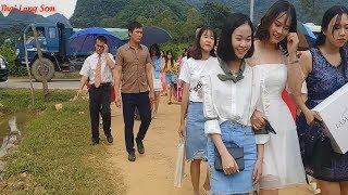ĐI ĐÁM CƯỚI NGƯỜI NÙNG GẶP NGAY 2 EM XINH GÁI đẹp mê la I Thai Lạng Sơn