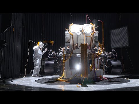 Shake, Rattle and Roll: Testing NASA's Mars 2020 Perseverance Rover