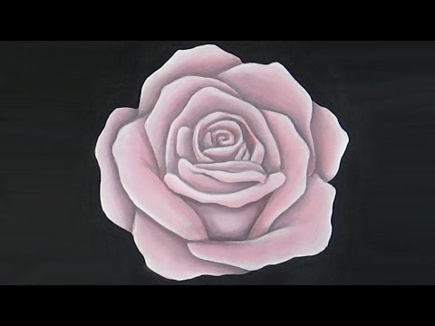 Acrylic painting pink rose speed painting youtube for Easy way to paint a rose