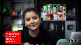 Top 15 must have expensive skincare products RARA my best skincare products