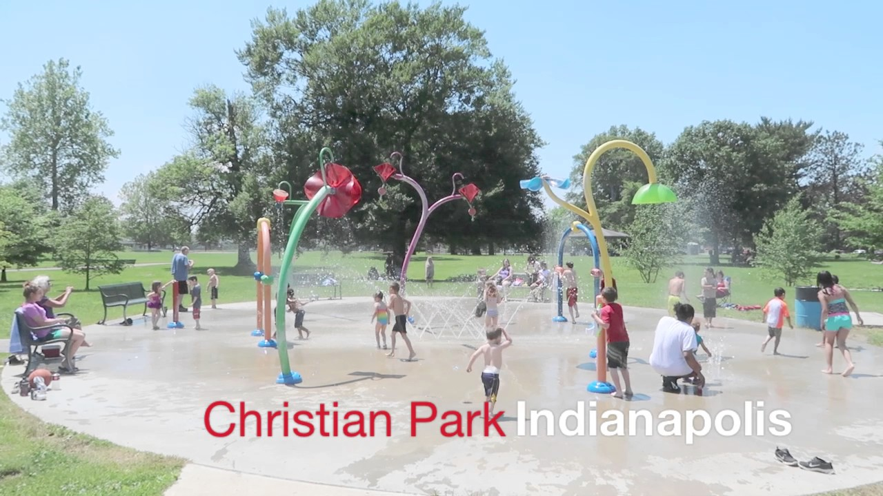 christian park splash pad indianapolis area splash parks youtube