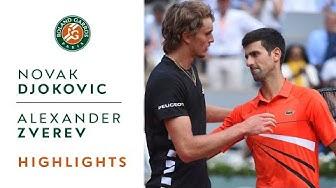 Novak Djokovic vs Alexander Zverev - Quarterfinals Highlights | Roland-Garros 2019