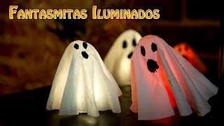 Fantasmitas Iluminados  para Decoracion Halloween Facilisima y Economica