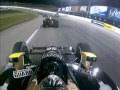[Ed Carpenter onboard] Miera, de Silvestro and Briscoe crash at Kentucky - IZOD Indycar Series 2010