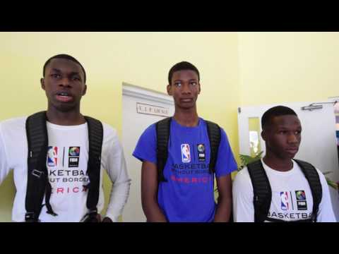 Basketball Without Borders 2017 - Bahamian student athletes interview