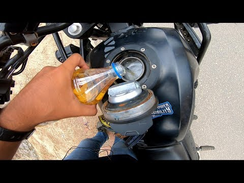 Royal Enfield Himalayan mileage test with 1 litre petrol | **unbelievable result**