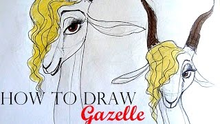 [request] HOW TO DRAW Gazelle (Zootopia) - 10 quick sketches - Speed drawing