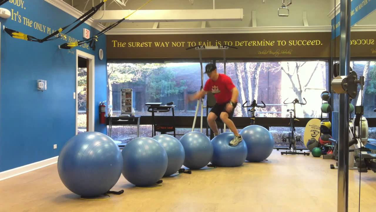 Plyometric Stability Ball Line Jump Youtube